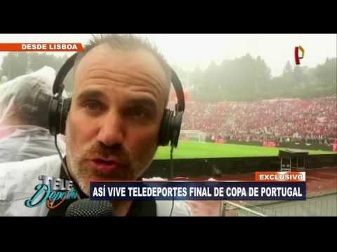 [Exclusivo] Así vive Teledeportes la final de Copa de Portugal