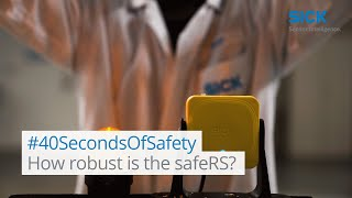 #40SecondsOfSafety: How robust is the safeRS? | SICK AG