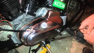 1971 & up harley ironhead clutch& cable adjustment