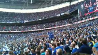Chelsea fans singing Liquidator at Wembley FA Cup 2010.MOV