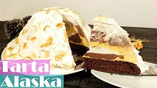 Tarta Alaska, Tarta helada con merengue flambeado.