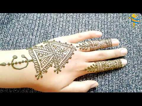 النقش المغربي الخلخالة او الخلال للاعراس و المناسبات نقش بالحناء مغربي اصيل