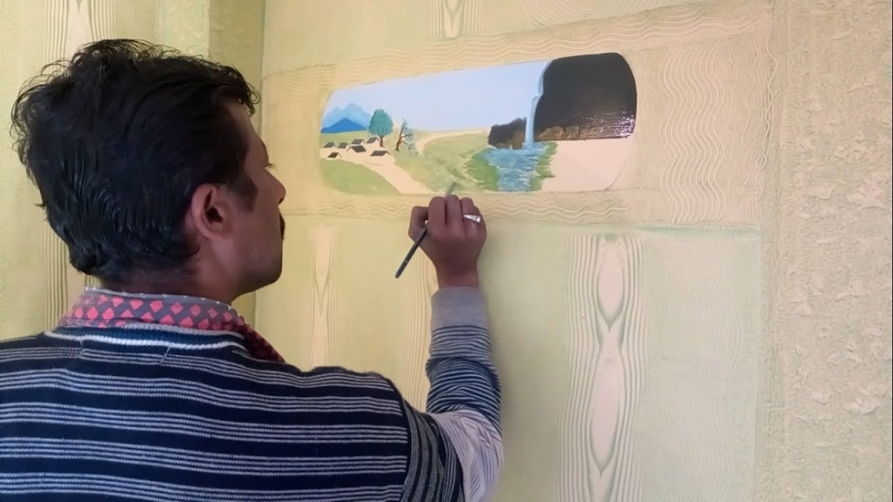 Asian Paints\' painting designs on walls for living room - YouTube