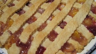 Peach Red Raspberry Pie - How To Make Old-fashioned Pie Recipe