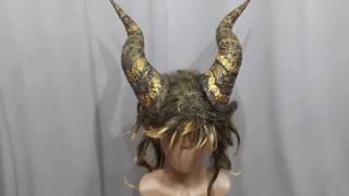 Beast horn + wig headgear tutorial