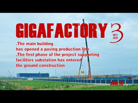 Tesla Gigafactory 3's substation rises ahead of target Model 3 production