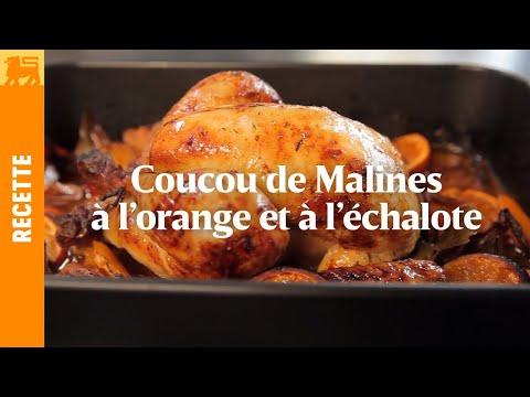 Coucou de Malines à l'orange et à l'échalote
