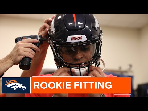 Broncos Rookies Get Fitted For Their New Equipment.