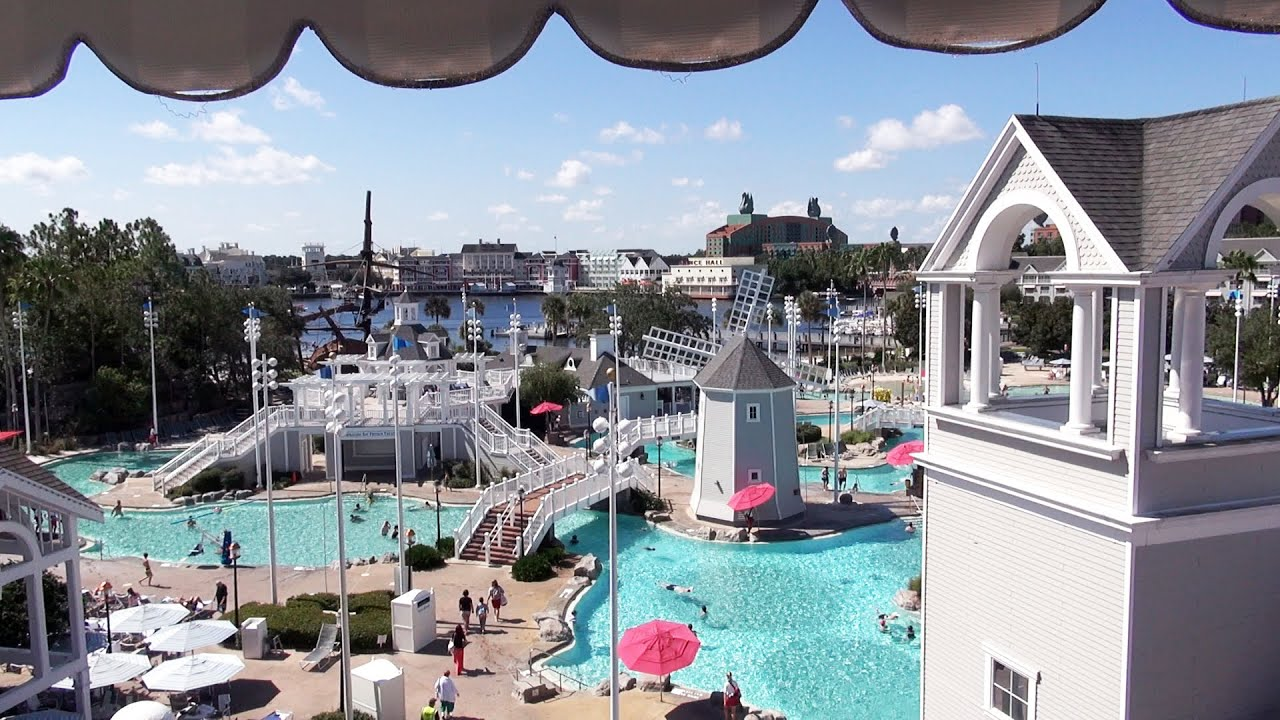 Disney 39 S Beach Club Resort Room 5727 Tour Club Level With Pool Lagoon View Disney World