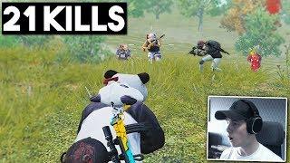 FULL SQUAD PUSHED ME! | 21 KILLS SOLO vs SQUADS | PUBG Mobile