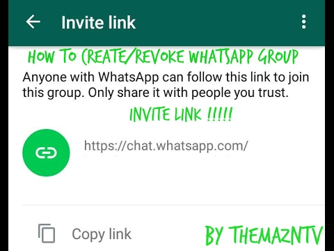 How To Create and DeactivateRevoke WhatsApp Group Invite Link