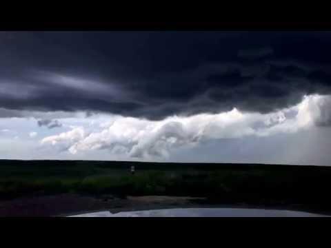 Timelapse Rotating Supercell South Dakota June 2015