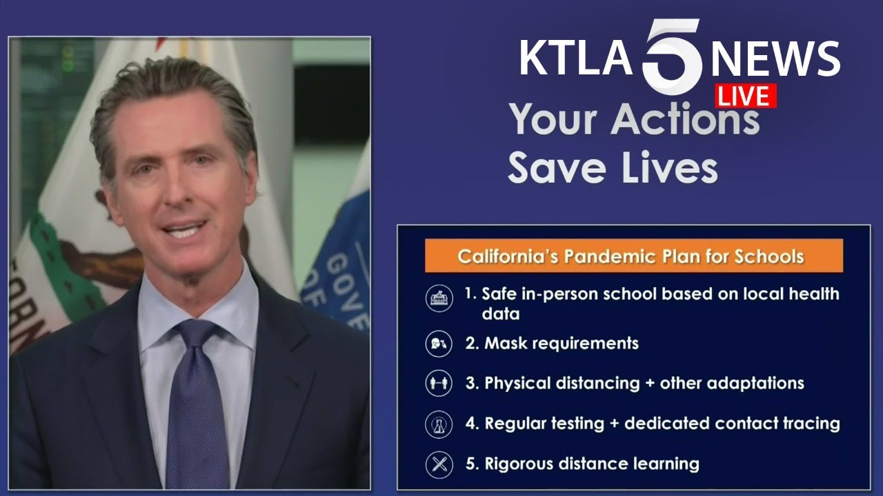 Watch: California Gov. Gavin Newsom on COVID-19 guidance for ...