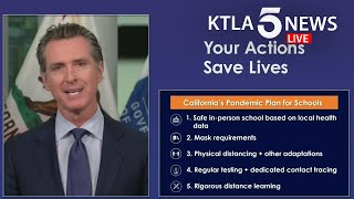 Update: gov. gavin newsom on july 17 announced only schools in counties off the state's coronavirus watchlist for two weeks straight will be allowed to reope...