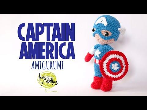 Tutorial Captain America Amigurumi In English Crochet Youtube