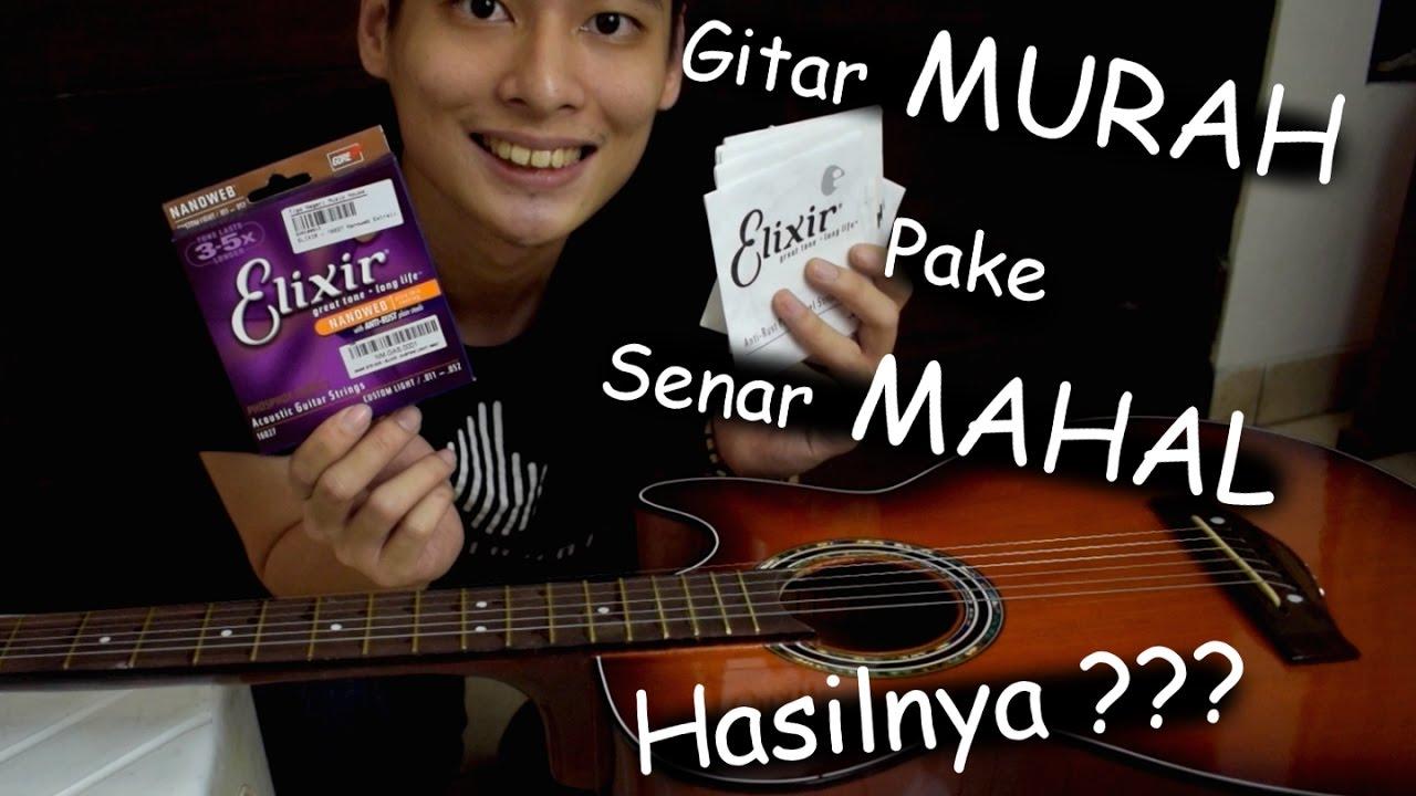 #EKSPERIMENGITAR Gitar MURAH Pakai Senar MAHAL ???