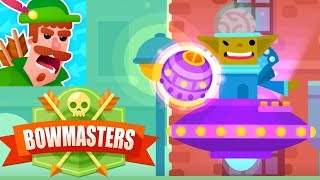 Bowmasters - Legendary Alien Tournament Challege Gameplay (iOS)