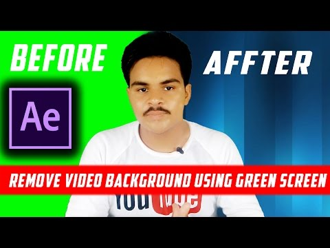 How To Change Or Remove Video Background Using Green  Screen In After Effects