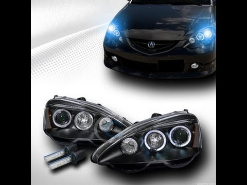 hqdefault 2002 2004 acura rsx projector headlight installation video youtube 2006 acura rsx headlight wiring diagram at bakdesigns.co