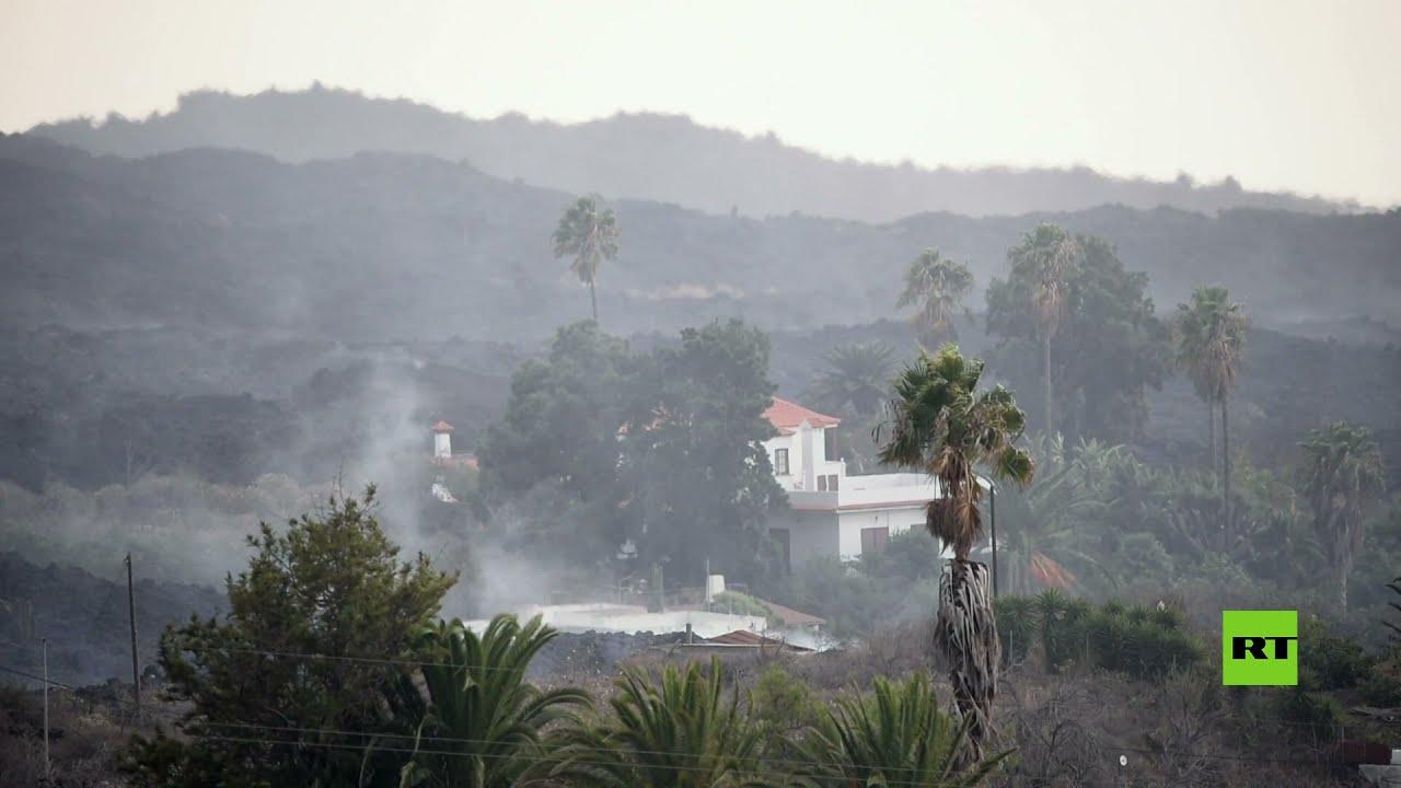 إخلاء مئات السكان مع استمرار تدفق الحمم البركانية التي تلتهم الأراضي في جزيرة لا بالما  - نشر قبل 9 ساعة