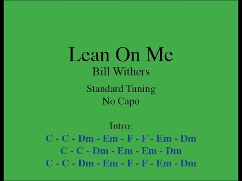 Lean On Me Easy Guitar Chords And Lyrics Youtube