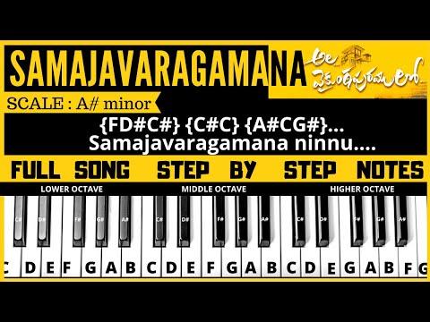 Samajavaragamana Song | Piano / Keyboard Music Notes Tutorial | Ala Vaikunthapurramlo
