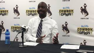 Wyoming coach Allen Edwards discusses Grambling win, TJ Taylor's 21-point night