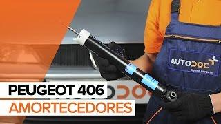 Como substituir a amortecedores traseiros no PEUGEOT 406 TUTORIAL | AUTODOC