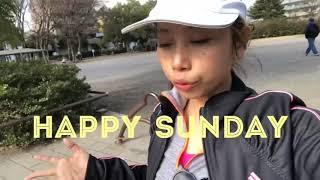 AMI VLOG Japan 🇯🇵 (main tennis 🎾 di taman) happy Sunday