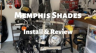 Harley Davidson Softail - Memphis Shades Windshield Install & Review