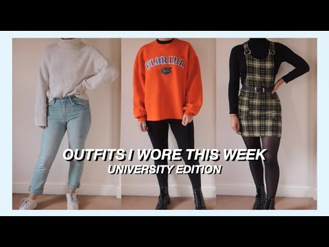 [VIDEO] - OUTFITS I WORE THIS WEEK | UNIVERSITY OUTFIT IDEAS 6