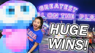 We won BIG at the Florida State Fair Carnival Games!