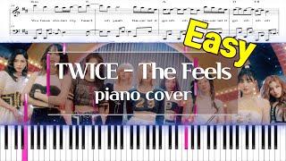TWICE(트와이스) - The Feels(더 필스) | 피아노 커버 쉬운 버전, 악보, 코드 (Piano …
