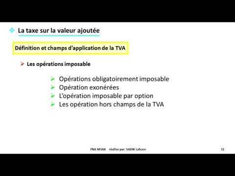 #EP 2 fiscalité: la taxe sur la valeur ajoutée| 1/4