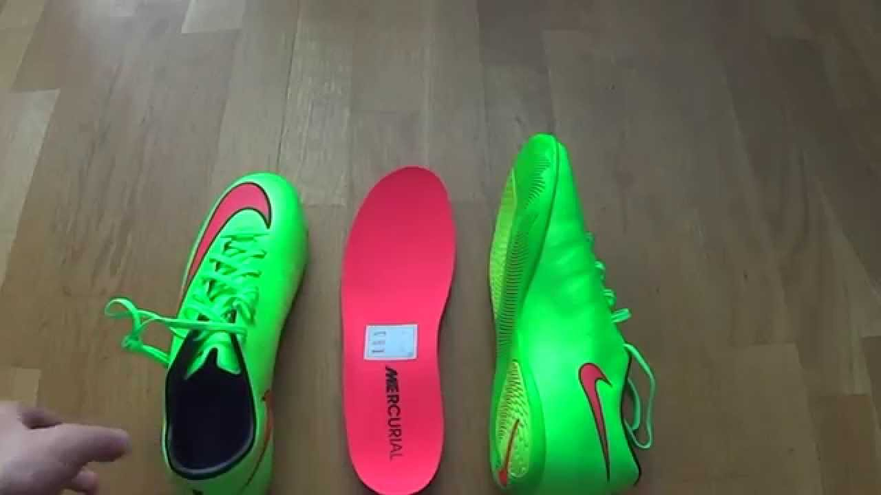 43c7d98e3 New Cristiano Ronaldo boot:Nike Mercurial Victory V IC Electric Green/Hyper  Punch unboxing by FSR - YouTube