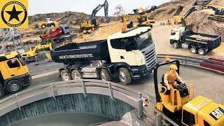 BRUDER Toy Trucks for Children 'THE BRIDGE PROJECT' long play with Bruder EXCAVATORS LKW