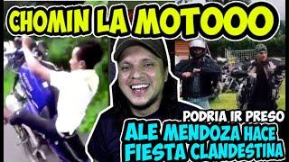 CHOMIN LA MOTOOOO REACCIÓN Y MEMES / ALE MENDOZA PODRÍA IR PRESO, POR FIESTA CLANDESTINA