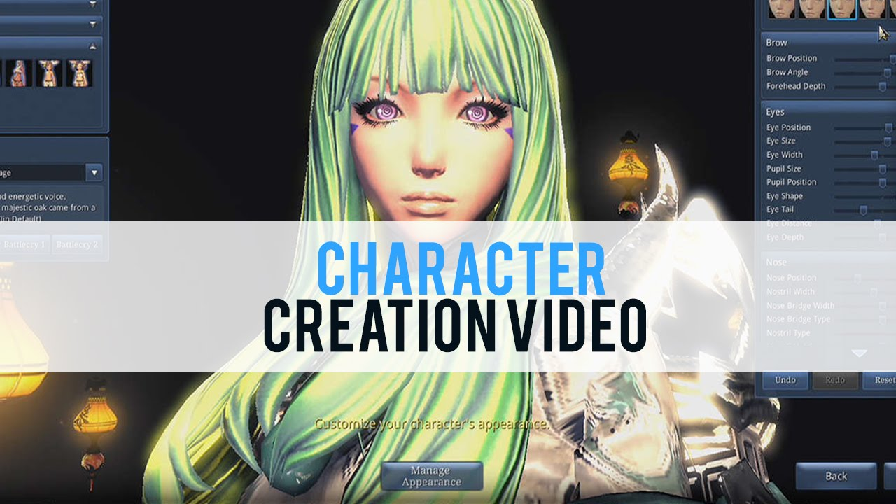 blade and soul character creation first look hd youtube