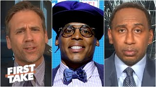 Max Kellerman calls out 'Stephen B. Smith' for his Cam Newton expectations | First Take