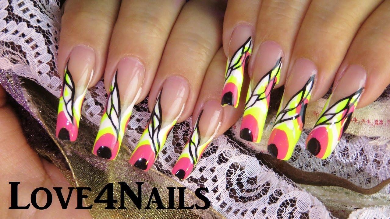 Nail Art Tutorial Neon Summer Idea - YouTube
