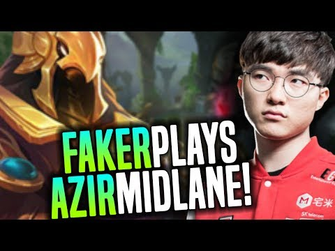 Faker Hard Carry Bringing Back Azir Mid! - SKT T1 Faker SoloQ Playing Azir Midlane! | SKT T1 Replays
