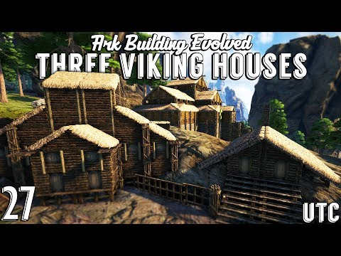 Three Viking Houses :: Ark Building Evolved w/ UTC :: Ark Vi