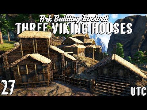 Three Viking Houses :: Ark Building Evolved w/ UTC :: Ark Viking Town Build :: Ep. 27
