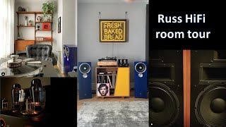 Klispch Heresy III and Zu speaker. Russ Hi-Fi room tour.