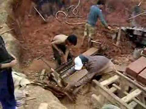 Laos Making Bricks Out Of Mud Amp Clay Youtube