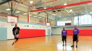 How to Dribble through Legs as You Run   Basketball
