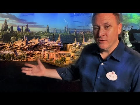 INTERVIEW: Star Wars Land model tour w/ Imagineer Scott Trowbridge at D23 Expo 2017 - Galaxy's Edge