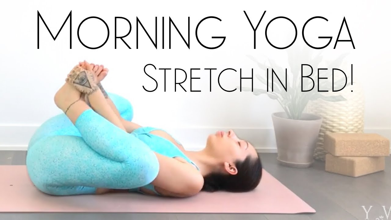 5 Minute Morning Yoga - BEST Yoga in Bed!