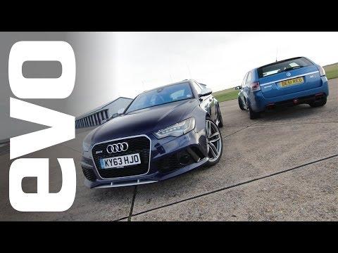 Audi RS6 Avant v Vauxhall VXR8 Supercharged | evo TRACK BATTLE