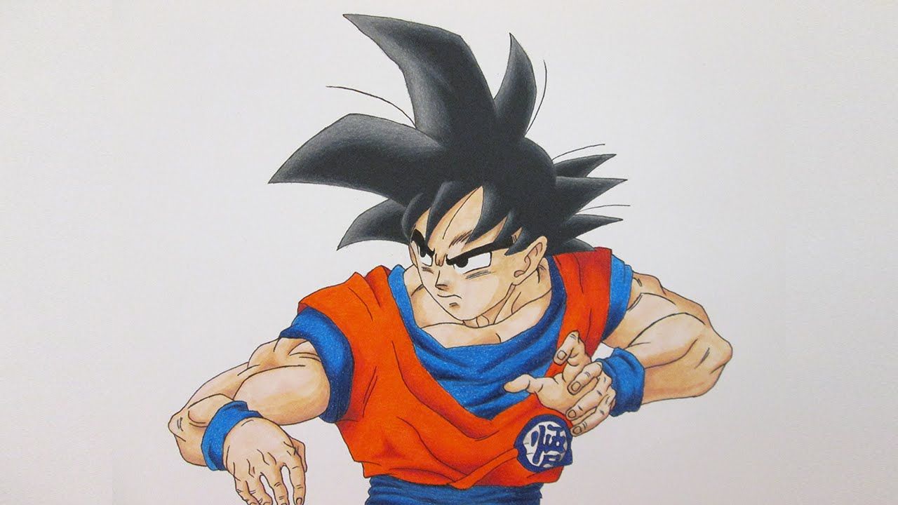 Speed Drawing Goku Dragon Ball Super Youtube